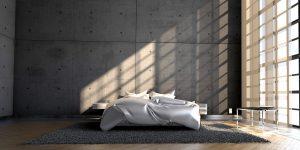 Een kunststof gietvloer die lijkt op een betonvloer